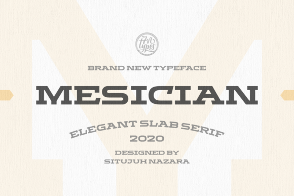 Print on Demand: Mesician Slab Serif Font By Situjuh