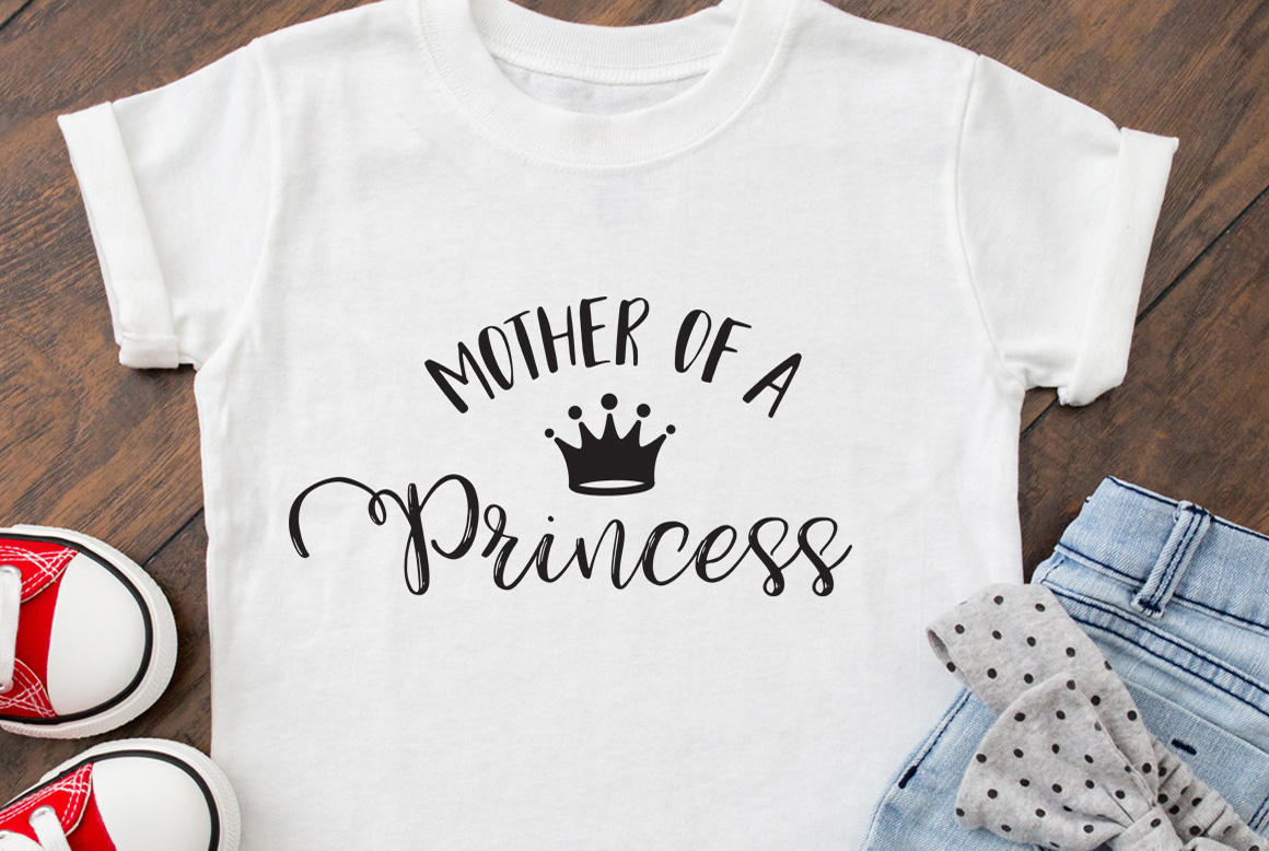 Download Free Mother Of A Princess Cut File Graphic By Nerd Mama Cut Files for Cricut Explore, Silhouette and other cutting machines.