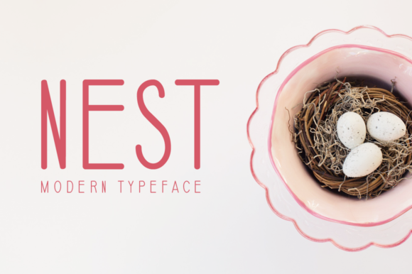 Print on Demand: Nest Display Font By Seemly Fonts