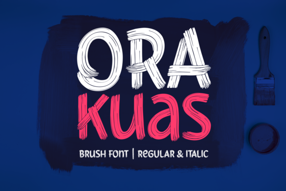 Print on Demand: Ora Kuas Display Font By Situjuh