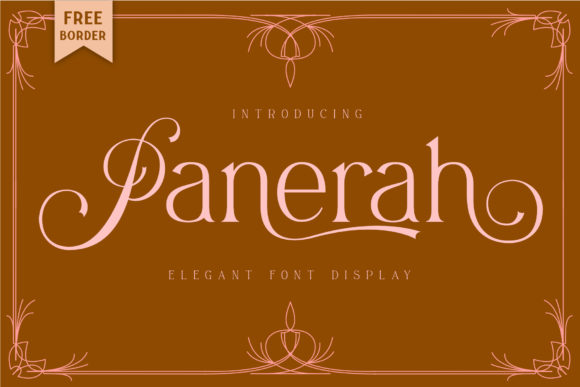 Download Free Panerah Font By Mrkhoir012 Creative Fabrica for Cricut Explore, Silhouette and other cutting machines.