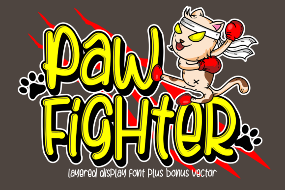 Print on Demand: Paw Fighter Display Font By figuree studio - Image 1
