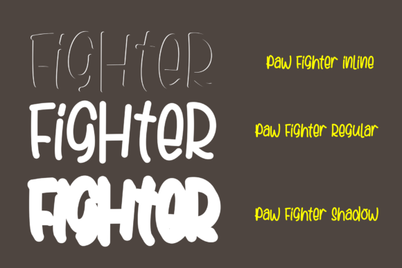 Print on Demand: Paw Fighter Display Font By figuree studio - Image 3