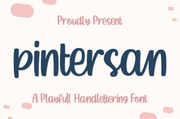 Print on Demand: Pintersan Display Font By Garisman Studio