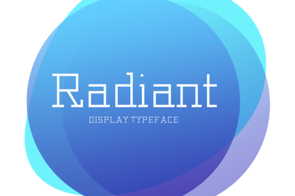 Print on Demand: Radiant Display Font By Seemly Fonts