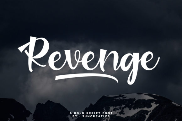 Print on Demand: Revenge Script & Handwritten Font By Juncreative