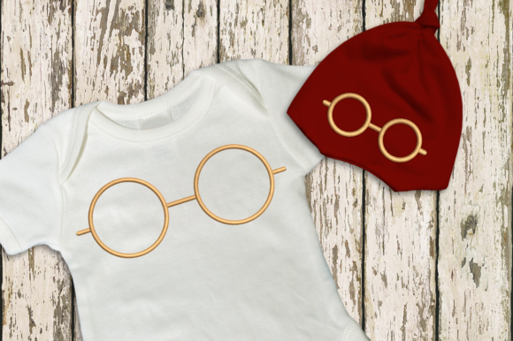 Round Glasses Accessories Embroidery Design By DesignedByGeeks - Image 1
