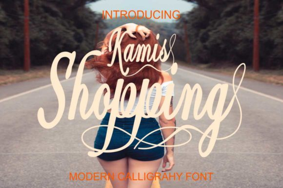 Print on Demand: Shopping Kamis Script & Handwritten Font By Bot Kerling