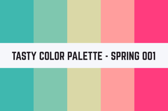 Print on Demand: Solids Tasty Color Palette - Spring 001 Graphic Textures By TastyColorPalettes