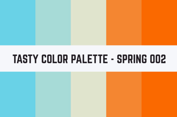 Print on Demand: Solids Tasty Color Palette - Spring 002 Graphic Textures By TastyColorPalettes