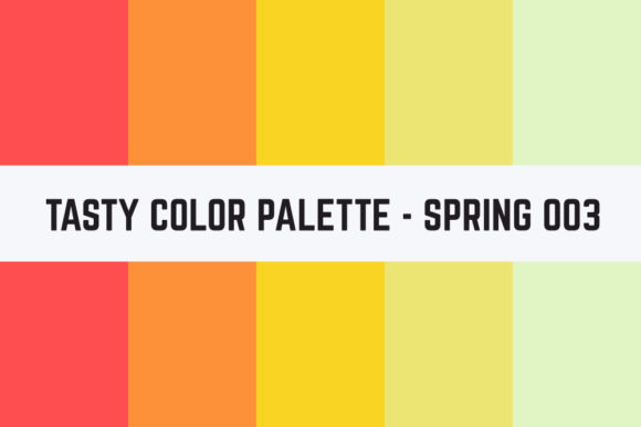 Print on Demand: Solids Tasty Color Palette - Spring 003 Graphic Textures By TastyColorPalettes