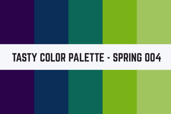 Print on Demand: Solids Tasty Color Palette - Spring 004 Graphic Textures By TastyColorPalettes