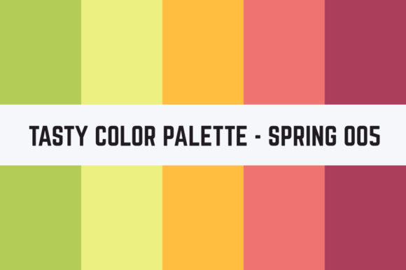 Print on Demand: Solids Tasty Color Palette - Spring 005 Graphic Textures By TastyColorPalettes