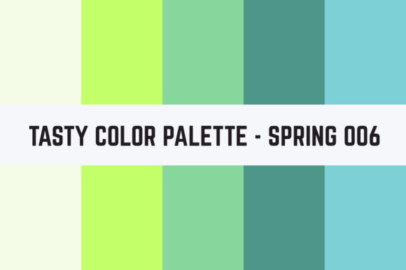 Print on Demand: Solids Tasty Color Palette - Spring 006 Graphic Textures By TastyColorPalettes