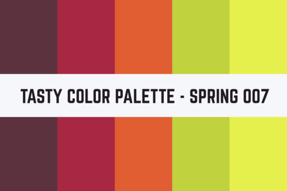 Print on Demand: Solids Tasty Color Palette - Spring 007 Graphic Textures By TastyColorPalettes