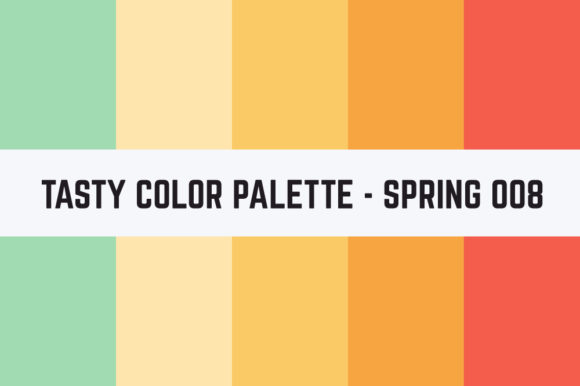 Print on Demand: Solids Tasty Color Palette - Spring 008 Graphic Textures By TastyColorPalettes