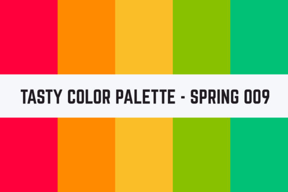Print on Demand: Solids Tasty Color Palette - Spring 009 Graphic Textures By TastyColorPalettes