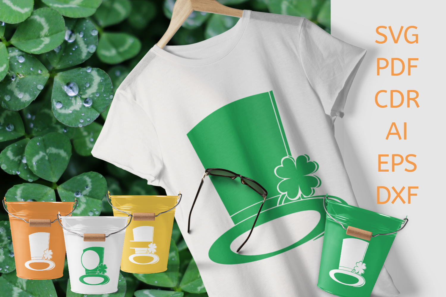 Download Free St Patrick S Hats Set Of 3 Cliparts Graphic By Print Cut Hang for Cricut Explore, Silhouette and other cutting machines.