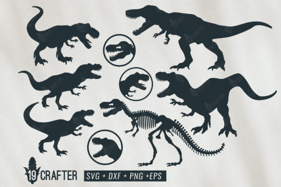 Download Free T Rex Tyrannosaurus Rex Dinosaur Svg Bun Graphic By Great19 Creative Fabrica for Cricut Explore, Silhouette and other cutting machines.