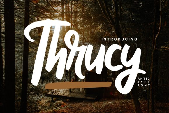 Print on Demand: Thrucy Script & Handwritten Font By Vunira
