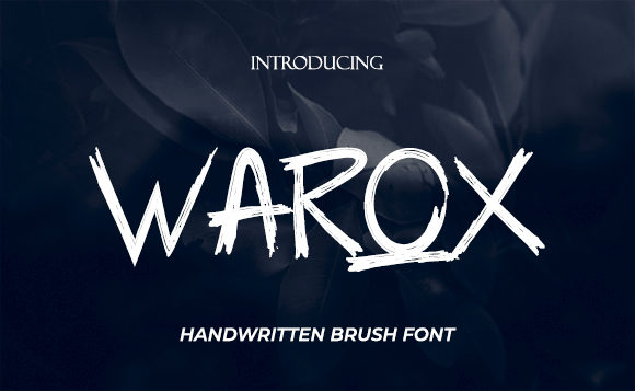 Print on Demand: Warox Display Font By The Keys