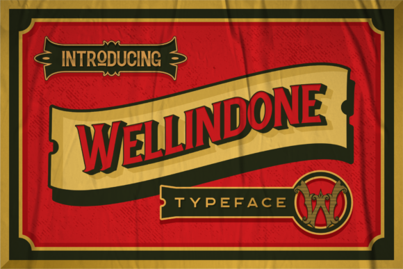 Print on Demand: Wellidone Display Font By 24Design Studios
