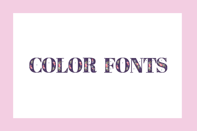 This Color Font is called Regia.