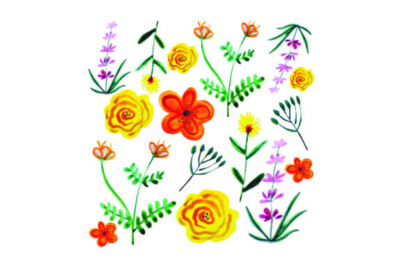 Floral Paper Designs & Drawings Craft Cut File By Creative Fabrica Crafts