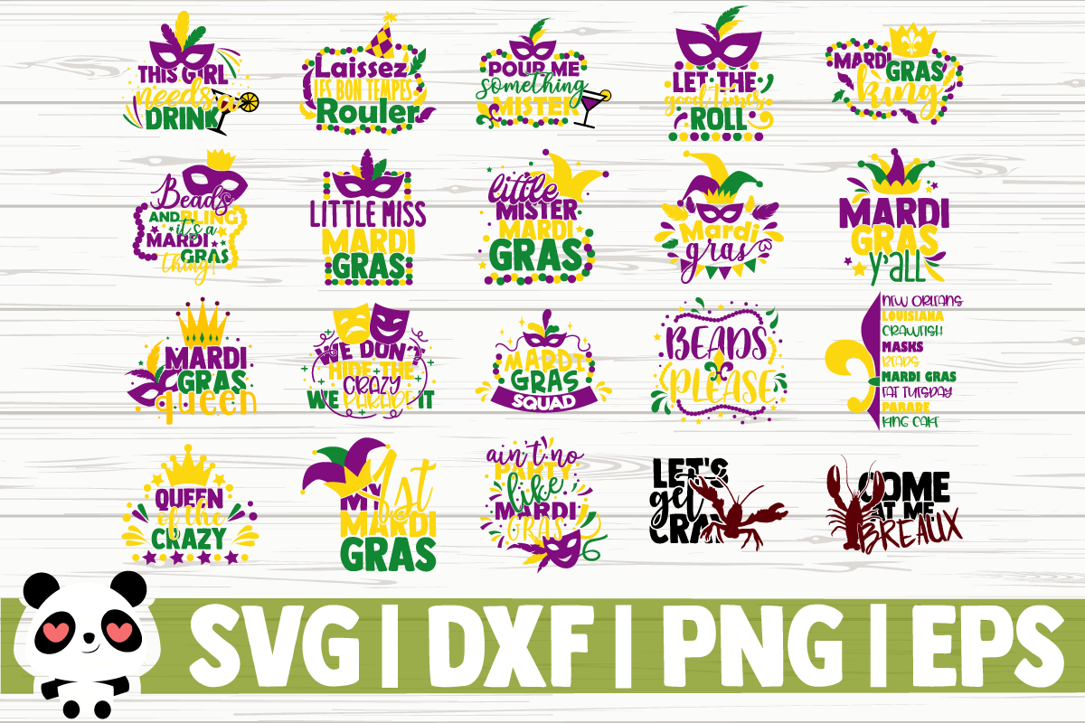 Download Free 20 Mardi Gras Quotes Bundle Graphic By Creativedesignsllc for Cricut Explore, Silhouette and other cutting machines.