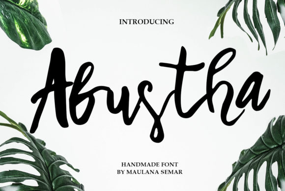 Print on Demand: Abustha Script & Handwritten Font By MechaStudio