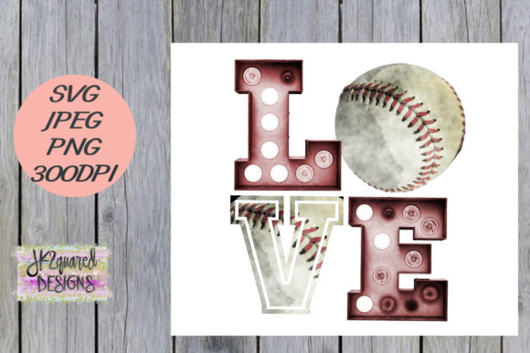 Print on Demand: Baseball Love Design Graphic Objects By jk2quareddesigns
