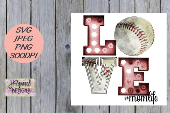 Print on Demand: Baseball Mom Graphic Objects By jk2quareddesigns