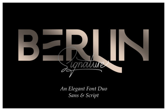 Download Free Berlin Duo Font By Andikafez Creative Fabrica for Cricut Explore, Silhouette and other cutting machines.
