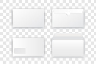 Blank Realistic Envelope Set Graphic Product Mockups By gee-00
