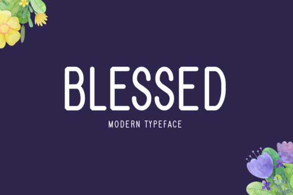 Print on Demand: Blessed Display Font By Seemly Fonts