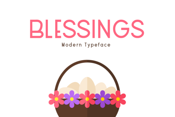 Print on Demand: Blessings Display Font By FontEden