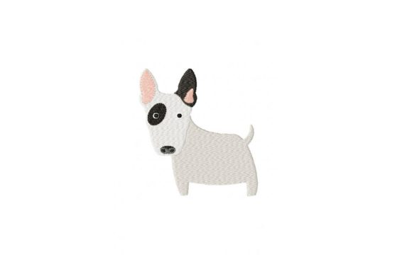 Bull Terrier Dogs Embroidery Design By Julie Dunn