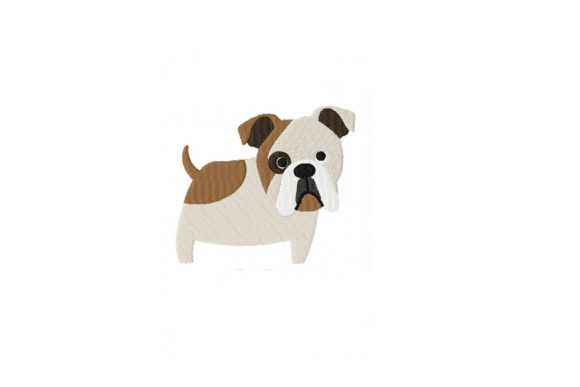 Bulldog Dogs Embroidery Design By Julie Dunn