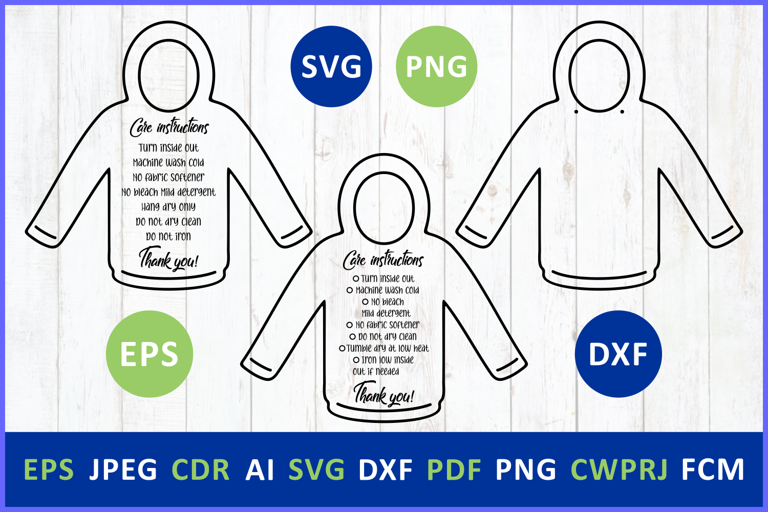 Download Free Care Instruction Pullover Hoodies Tshirt Graphic By Millerzoa for Cricut Explore, Silhouette and other cutting machines.