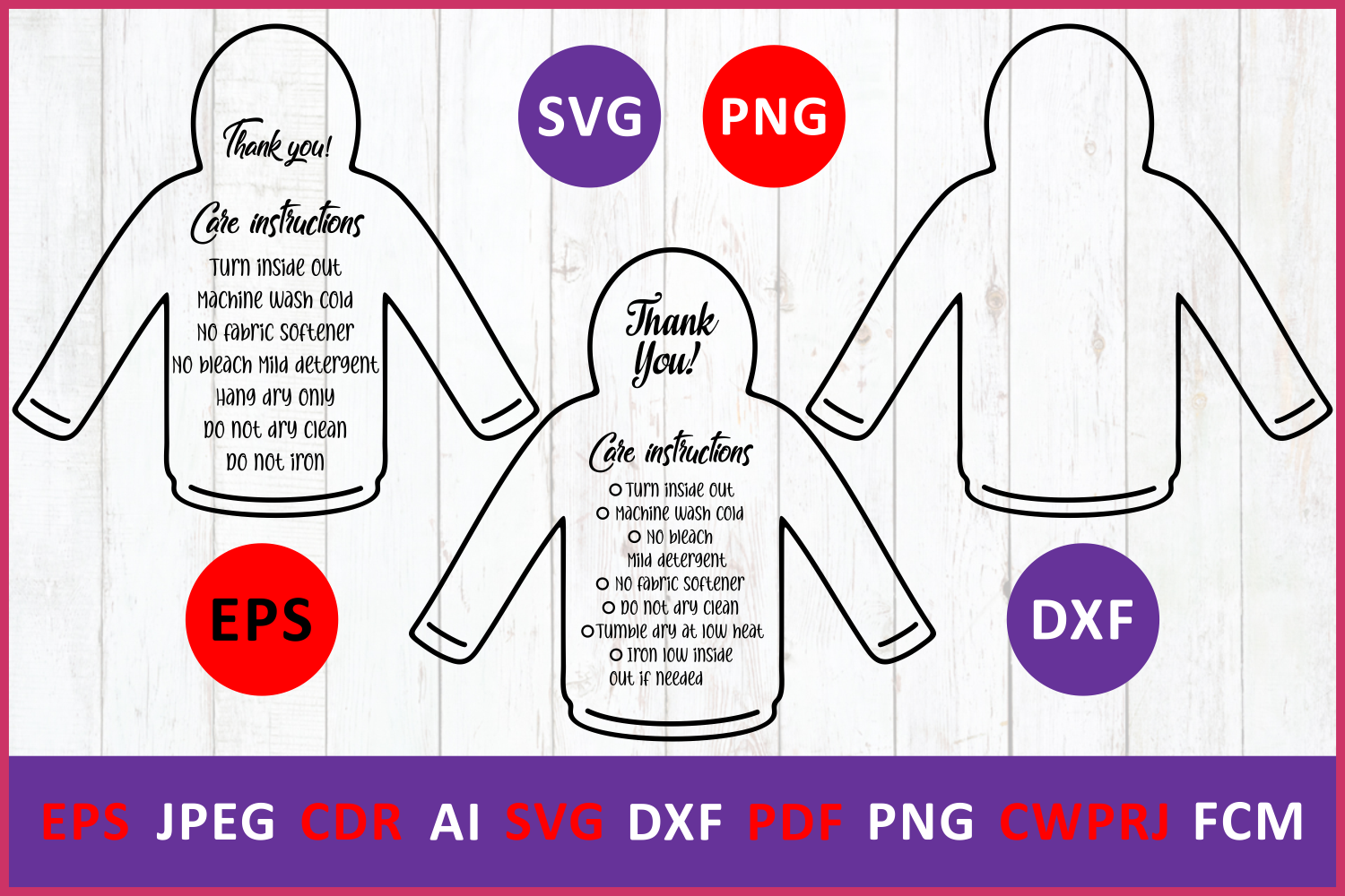 Download Free Care Instruction T Shirt Hoodies Graphic By Millerzoa Creative for Cricut Explore, Silhouette and other cutting machines.