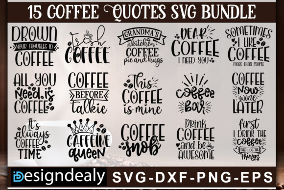 Print on Demand: Coffee Bundle Graphic Print Templates By Designdealy.com