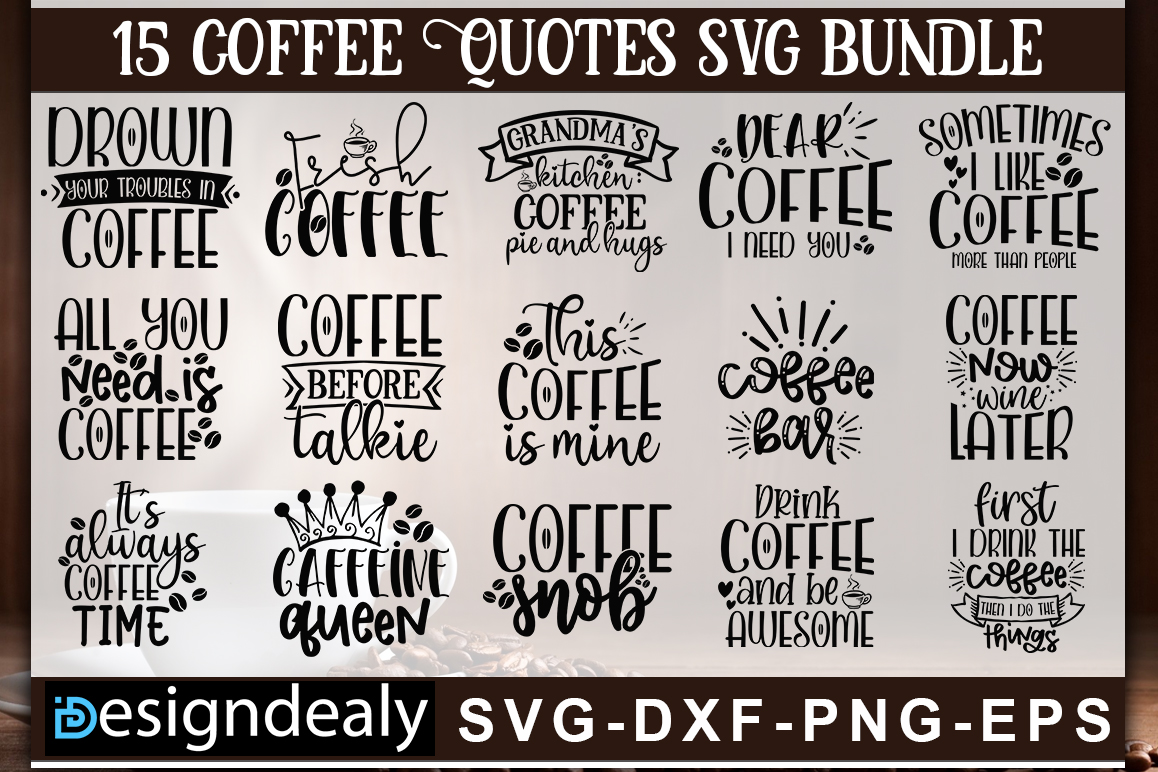 Download Free Coffee Bundle Graphic By Designdealy Com Creative Fabrica for Cricut Explore, Silhouette and other cutting machines.