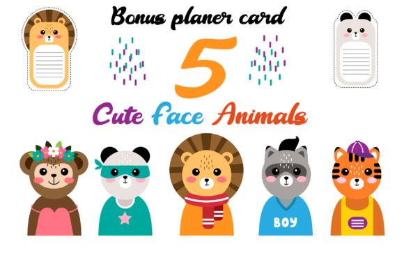 Download Free Cute Animal Face Funny Animal Heads Graphic By Pakpahanmarg Creative Fabrica for Cricut Explore, Silhouette and other cutting machines.
