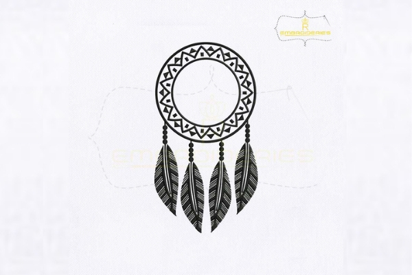 Download Free Dangling Feathers Dream Catcher Creative Fabrica for Cricut Explore, Silhouette and other cutting machines.