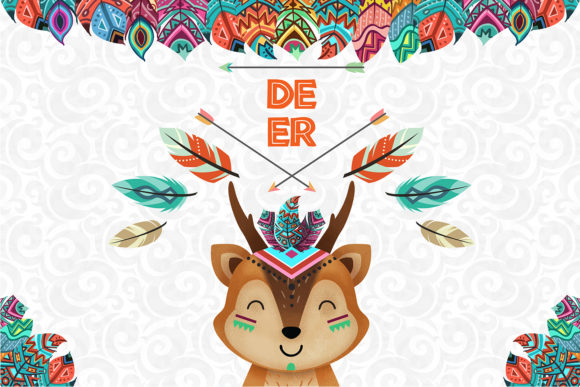Print on Demand: Deer Nursery Art, Woodland Animal Graphic Illustrations By accaliadigital