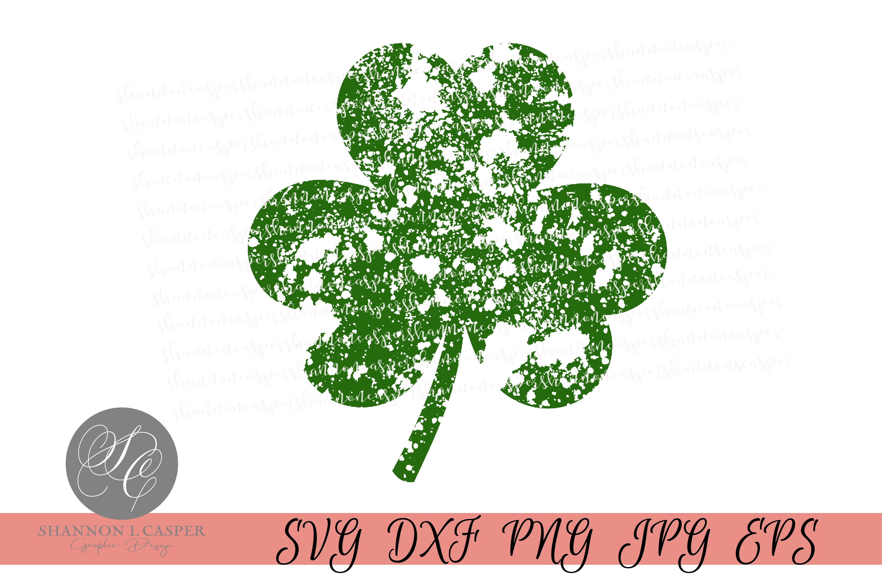 Download Free Distressed St Patricks Clover Graphic By Shannon Casper for Cricut Explore, Silhouette and other cutting machines.