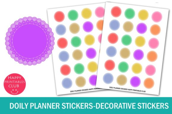 Download Doily Planner Stickers- Decorative