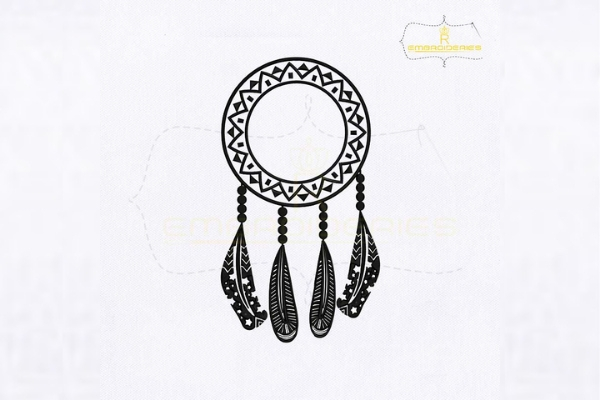 Download Free Dream Catcher Dangling Feather Creative Fabrica for Cricut Explore, Silhouette and other cutting machines.
