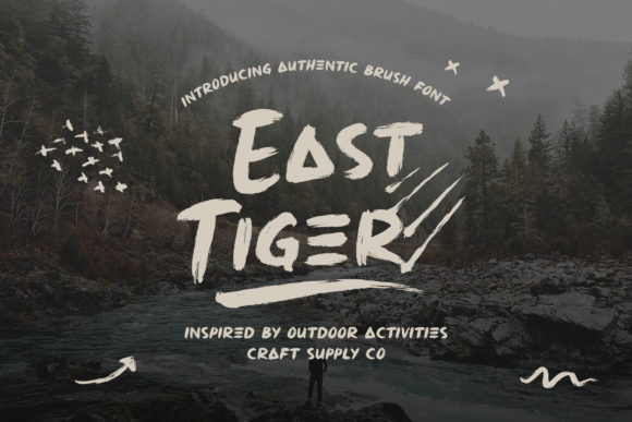 Print on Demand: East Tiger Display Font By craftsupplyco