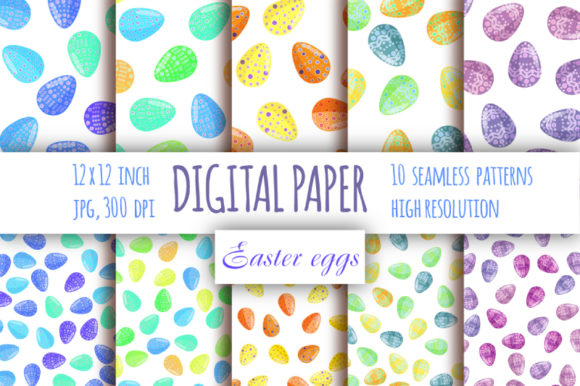 Download Free Easter Eggs Seamless Pattern Graphic By Bunart Creative Fabrica for Cricut Explore, Silhouette and other cutting machines.